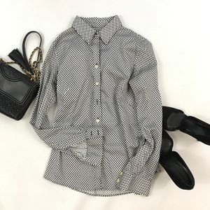 Banana Republic Black White Button Down Shirt 2